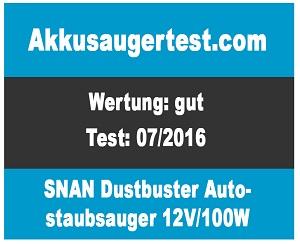 SNAN-Autostaubsauger-Dustbuster-Testurteil